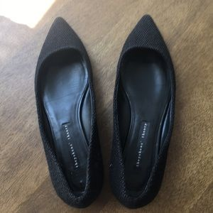 Theyskens Theory Black Pointed Flats